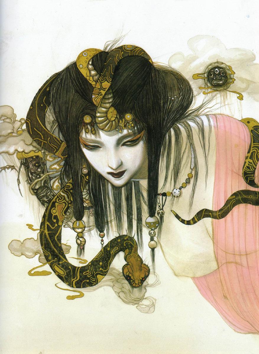Японка со змеей 3 фотография
